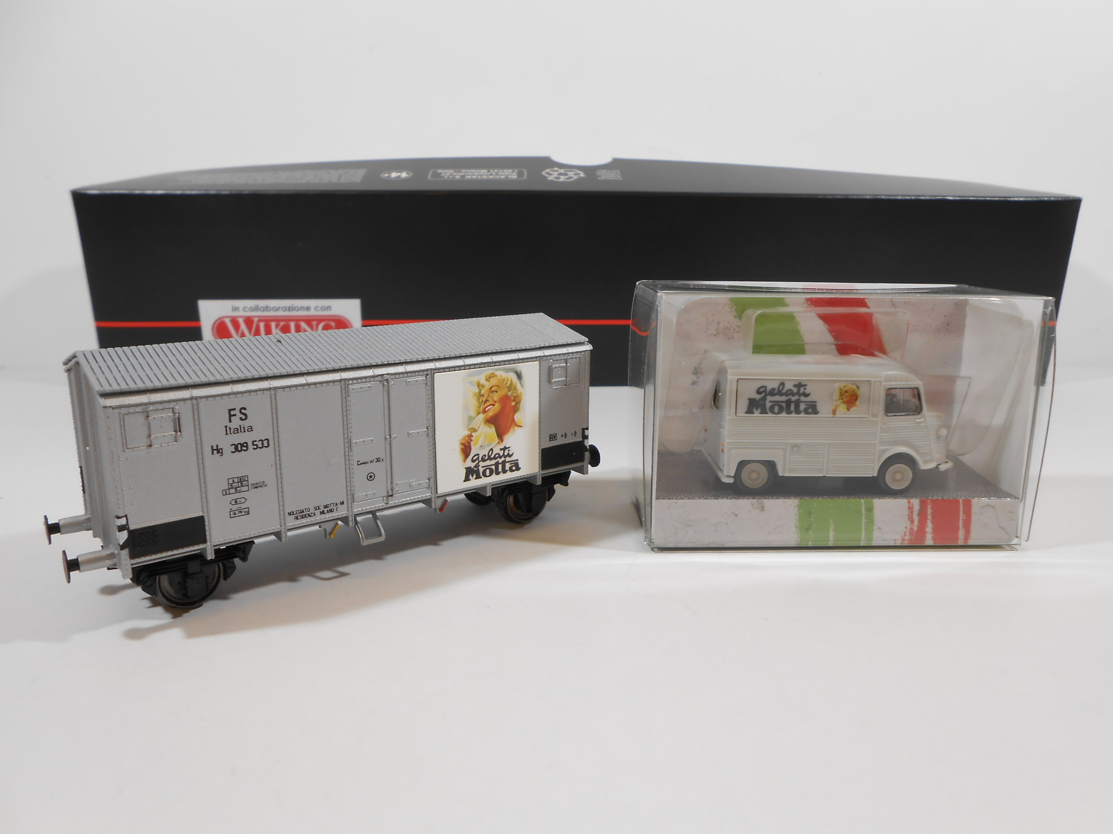 BLACKSTAR BS00021 - Set Motta con carro tipo Hg e furgone Citroen H