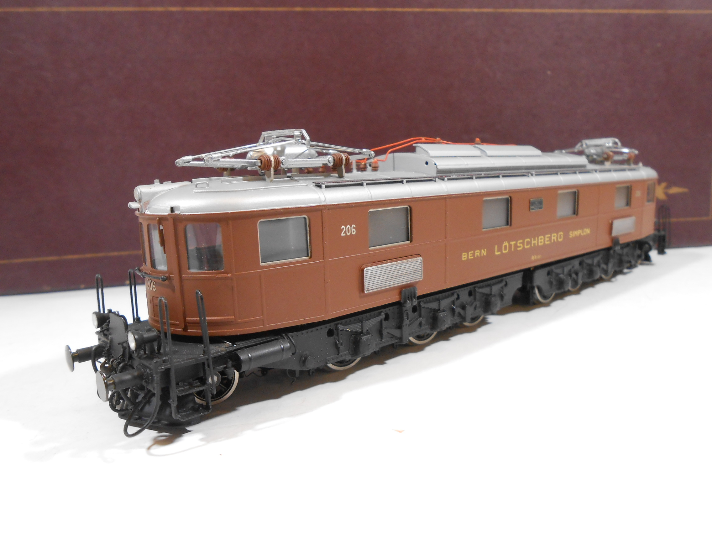 FULGUREX H0 Locomotore elettrico Ae 6/8 206 BLS Livrea marrone - OTTONE